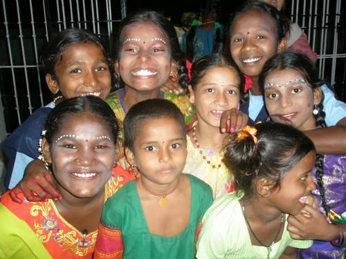 Smile of foster children